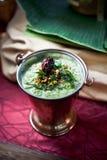 Inmersión asiática del coriandro y de la salsa picante Imagenes de archivo