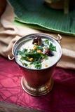 Inmersión de Hummus del asiático Imagen de archivo
