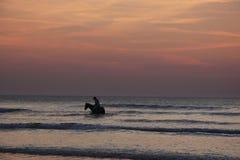 Inmersión de la playa imagenes de archivo