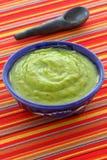 Inmersión mexicana deliciosa del guacamole Fotos de archivo