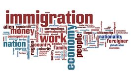 inmigración ilustración del vector
