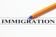 inmigración imagenes de archivo