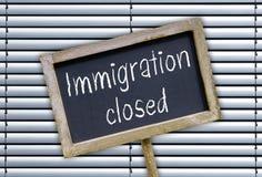 Inmigración cerrada Foto de archivo