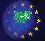 Inmigración de búlgaros en la unión europea ilustración del vector