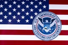 Inmigración de los E.E.U.U. y aplicación de las aduanas Imagenes de archivo