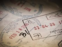 Inmigración y visa para el viaje Imágenes de archivo libres de regalías