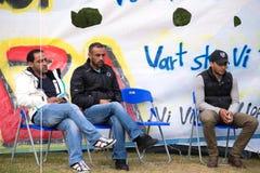 Inmigrantes de Gaza - Suecia 2015 Fotos de archivo libres de regalías
