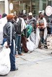 Inmigrantes en Atenas Imágenes de archivo libres de regalías
