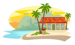 Inn By The Beach Royalty Free Stock Images