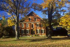 Inn and Hotel along Scenic Route 100 in Autumn in Ludlow, VT Royalty Free Stock Photos