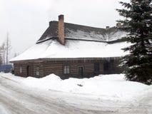 Inn in JeleÅ›nia - Beskid Zywiecki. Inn in JeleÅ›niaalso known as the Old Inn - a historic wooden tavern in JeleÅ›nia Beskid Å»ywiecki, probably from royalty free stock images
