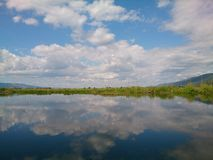 Inn Lay Lake in Shan State. Beautiful Inn Lay stock image