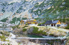 Inn in mountains. Inn in High Tatras Mountains in Slovakia stock images