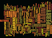 The Inn At Perry Cabin Text Background Word Cloud Concept Stock Photography
