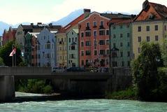 Inn river in innsbruck Royalty Free Stock Photo