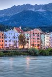 Inn river on its way through Innsbruck, Austria. Stock Images
