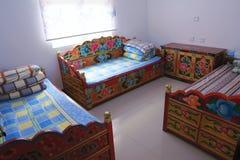 Inn room. The close-up of Tibetan inn room royalty free stock photo