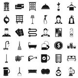 Inn service icons set, simple style Stock Images