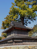 Inn for Shinto thearchy with tree and blue sky Royalty Free Stock Photo