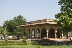 Innaffi il palazzo, Deeg, Ragiastan, India fotografia stock
