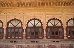 Innaffi il palazzo, Deeg, Ragiastan, India fotografie stock libere da diritti
