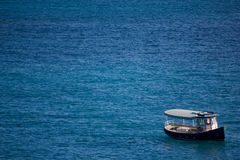 Taxi dell'acqua in oceano caraibico vicino a St Thomas fotografie stock libere da diritti