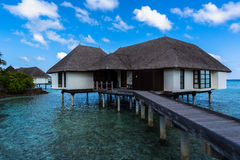 Innaffi la serie ad una località di soggiorno Maldive di quattro stagioni a Kuda Huraa Fotografie Stock