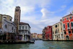 Innaffi la via a Venezia, Italia Fotografie Stock Libere da Diritti