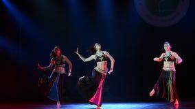 Innaffia la spruzzatura della danza popolare del cittadino di canzone- di festival archivi video
