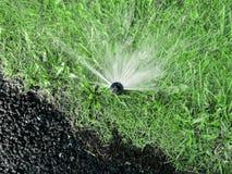 Innaffiatura del grass3, agricoltura, asfalto immagini stock libere da diritti