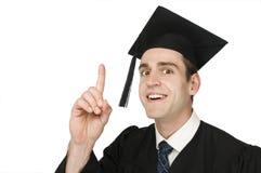 Innalzamento del dito del laureato Immagini Stock
