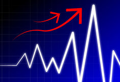 Innalzamento dell'onda di impulso Immagine Stock