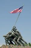 Innalzamento della bandiera Immagini Stock Libere da Diritti
