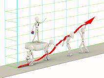 Innalzamento di una linea del grafico Immagini Stock Libere da Diritti