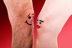 Innamorarsi di due ginocchia Fotografia Stock Libera da Diritti