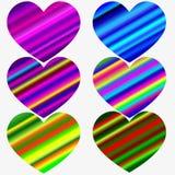 Innamorato - letterin scritto a mano di colore di pendenza dell'arcobaleno Immagini Stock