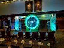 Innan att öppna Ecolighttech asia 2014 Royaltyfri Bild