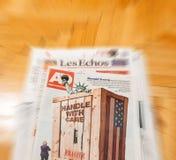 Innauguration de Algemeen Dagblad y de Donald Trump Imágenes de archivo libres de regalías