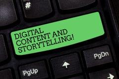 Innehåll och historieberättande för ordhandstiltext Digitalt Affärsidé för att marknadsföra annonserande optimizationstrategi fotografering för bildbyråer