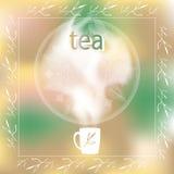 innehåller vektorn för tea för koppillustrationingreppet royaltyfri illustrationer