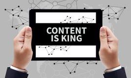 innehållet är konungbegreppet royaltyfria foton