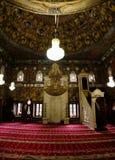 Innen- Ansicht zu beschmutzter Moschee Alaca Cami Kalkandelen, Nord-Mazedonien stockbilder
