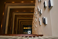 Innen-Crowne-Piazzahotel lizenzfreies stockfoto