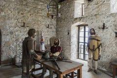 Innen das Museum in Kyrenia Stockfotografie