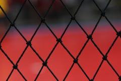 Innen-Futsals-Gerichtsnetz Stockfotos