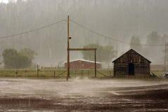Innen geregnet Stockbild