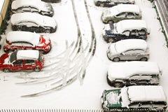 Innen geschneit stockfoto