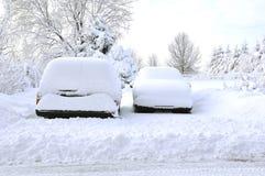 Innen geschneit Stockbild