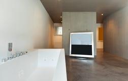 Innen-, modernes Badezimmer Lizenzfreie Stockbilder