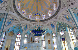 Innen-Moschee Qol Sharif Stockbild